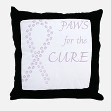 tile_paw4cure_orchid Throw Pillow
