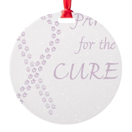 tile_paw4cure_orchid Round Ornament
