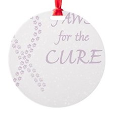 btn_paw4cure_orchid Ornament