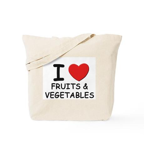 I love fruits & vegetables Tote Bag