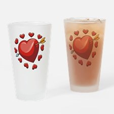 hearts1_tr Drinking Glass