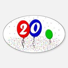 20bdayballoon2x3 Sticker (Oval)