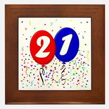 21bdayballoon Framed Tile