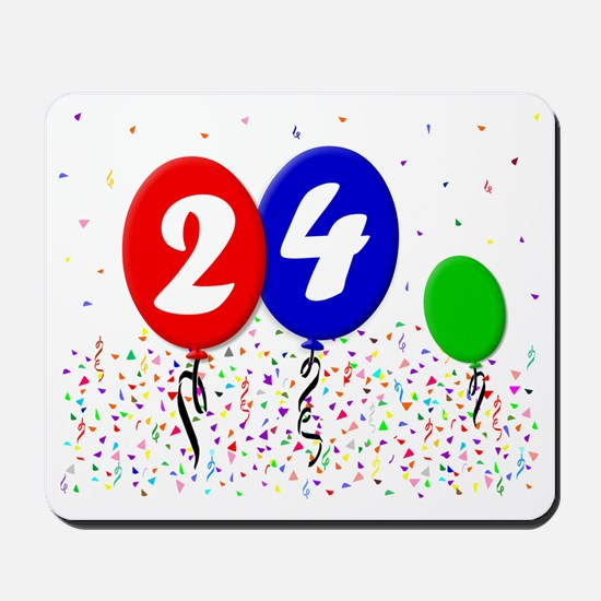 24bdayballoon3x4 Mousepad