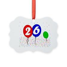 26bdayballoon3x4 Ornament