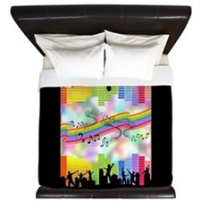 Colorful Musical Theme King Duvet