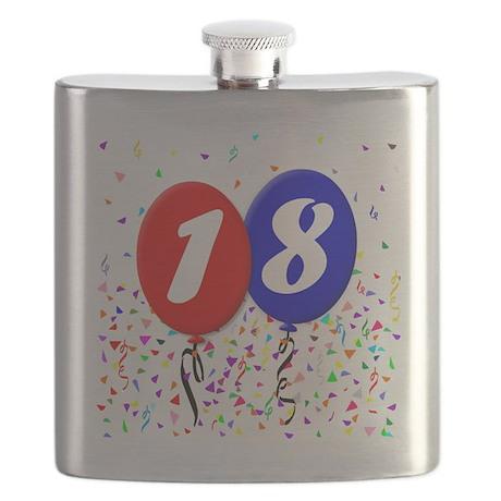 18bdayballoon Flask