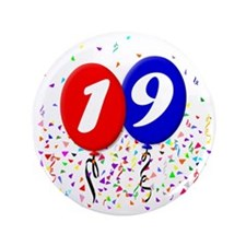 "19bdayballoon 3.5"" Button"