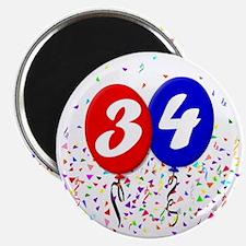 34bdayballoon Magnet