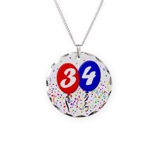 34bdayballoon Necklace