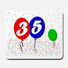 35bdayballoon3x4 Mousepad