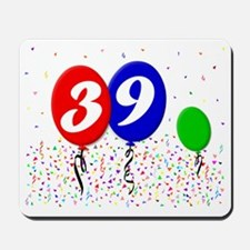 39bdayballoon3x4 Mousepad