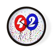 42bdayballoon Wall Clock