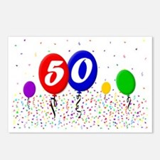 50bdayballoon2x3 Postcards (Package of 8)