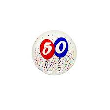 50bdayballoon Mini Button