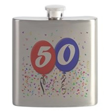 50bdayballoon Flask