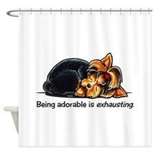 Yorkie Being Adorable Shower Curtain