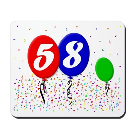 58bdayballoon3x4 Mousepad