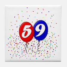 59bdayballoonbtn Tile Coaster