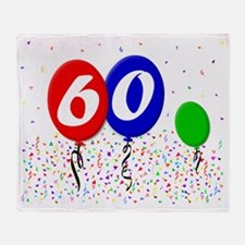 60bdayballoon3x4 Throw Blanket