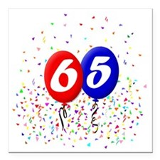 "65bdayballoonbtn Square Car Magnet 3"" x 3"""