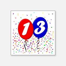 "13bdayballoon Square Sticker 3"" x 3"""