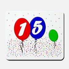 15bdayballoon3x4 Mousepad