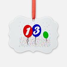 13bdayballoon3x4 Ornament
