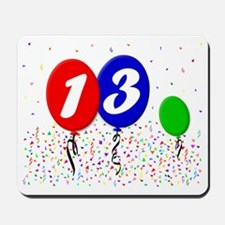 13bdayballoon3x4 Mousepad