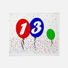 13bdayballoon3x4 Throw Blanket