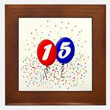 15bdayballoonbtn Framed Tile