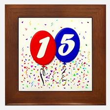 15bdayballoon Framed Tile