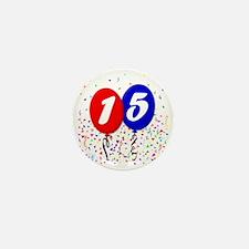 15bdayballoon Mini Button