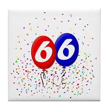 66bdayballoonbtn Tile Coaster