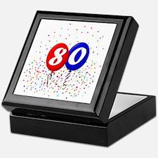 80bdayballoonbtn Keepsake Box