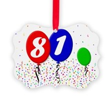 81bdayballoon3x4 Ornament