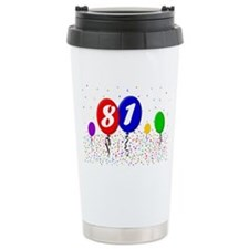 81bdayballoon2x3 Travel Mug