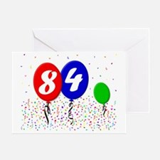 84bdayballoon3x4 Greeting Card