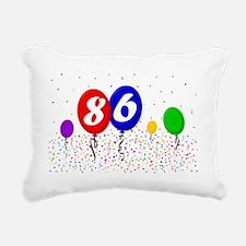 86bdayballoon2x3 Rectangular Canvas Pillow