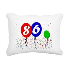86bdayballoon3x4 Rectangular Canvas Pillow