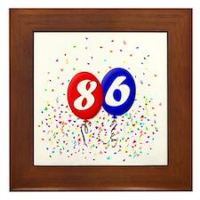 86bdayballoonbtn Framed Tile