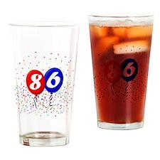 86bdayballoonbtn Drinking Glass