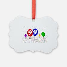 99bdayballoon2x3 Ornament