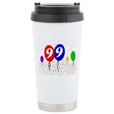 99bdayballoon2x3 Travel Mug
