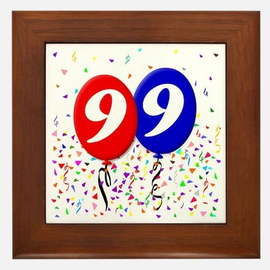 99bdayballoon Framed Tile