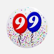 99bdayballoon Round Ornament