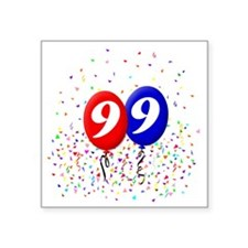 "99bdayballoonbtn Square Sticker 3"" x 3"""