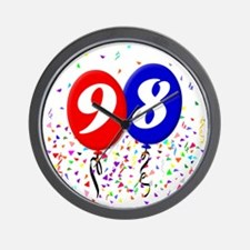 98bdayballoon Wall Clock