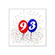 "93bdayballoonbtn Square Sticker 3"" x 3"""
