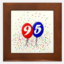 95bdayballoonbtn Framed Tile